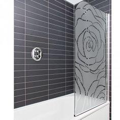 Un décoration florale pour protéger votre paroi de douche des regards indiscrets.