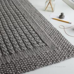 Westport Blanket knitting pattern by Fifty Four Ten Studio. Quick and easy knitting pattern. Instructions for five sizes: XL blanket, large blanket, medium throw, small crib / lap blanket, baby blanket. Knit with super bulky yarn. With this pattern by Fif Knitting Terms, Circular Knitting Needles, Knitting Stitches, Knitting Projects, Baby Knitting, Free Knitting, Knitted Afghans, Knitted Baby Blankets, Easy Knit Baby Blanket