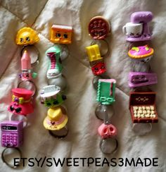 SHOPKINS Rings Season 3Party Favor Favors Ring by SweetPeas3made