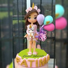 Clay Projects, Clay Crafts, Diy And Crafts, Cake Topper Tutorial, Cake Toppers, Unicorn Birthday Parties, Unicorn Party, Handkerchief Crafts, Teddy Toys