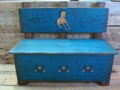 Toy box bench, Kid's bench, Storage for toys and much more. Western bench, Wood bench, Storage bench