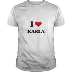 I Love KarlaGet this Karla tshirt for you or someone you love. Please like this product and share this shirt with a friend. Thank you for visiting this page.ILoveKarlaKarlaIheartKarla