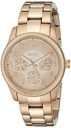 Relic Women's ZR15814 Kendra Analog Display Analog Quartz Rose Gold Watch. Case diameter: 34 mm. Case thickness: 7.95 mm. Analog-quartz Movement. Case Diameter: 34mm. Water Resistant To 165 Feet.