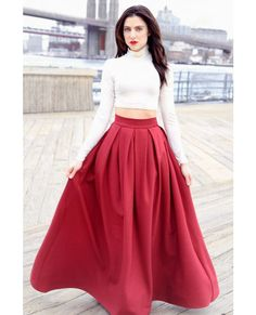 Pleated-Full-Length-Skirt