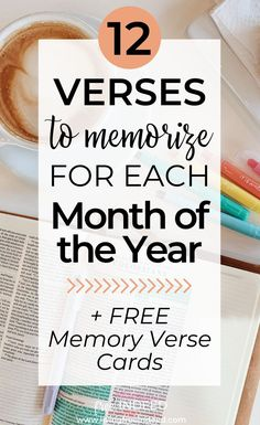 Here are 12 passages to memorize for every month of the year to build knowledge, peace, and strength in Christ. Memory verse cards are also available. Bible Verse Memorization, Prayer Scriptures, Bible Prayers, Scripture Verses, Bible Quotes, Healing Scriptures, Irish Quotes, Healing Quotes, Heart Quotes