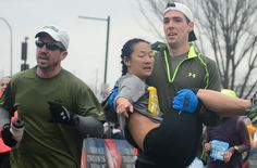 Haley Klinger was running her first 13.1-mile race in Philadelphia, but her body gave out just before the finish line.