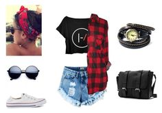 """""""untitled #42"""" by yeepp ❤ liked on Polyvore featuring Converse and Collections by Hayley"""