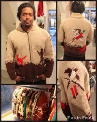 Mary Maxi Men's No. 432 The Pheasant Hunt sweater jacket