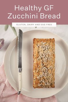 Delicious healthy zucchini bread – gluten free, vegan and made without refined sugars. Pure comfort food, best slathered with tahini, avocado & sea salt. Gluten Free Zucchini Bread, Healthy Zucchini, Vegan Bread, Vegan Gluten Free, Vegan Food, Healthy Food, Healthy Recipes, Vegan Baking Recipes, Quick Bread Recipes