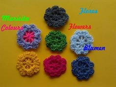 "Crochet Flor ""Toya"" para decorar Gorros, Chompitas, Diademas por Maricita Colours - YouTube"