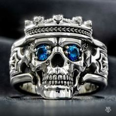 Find the Guardian men's silver skull ring, women's skull ring, and many more amazing biker skull rings at NightRider Jewelry Skull Jewelry, Jewelry Rings, Jewelry Accessories, Skull Rings, Punk Jewelry, Jewellery Earrings, Hippie Jewelry, Male Jewelry, Biker Rings