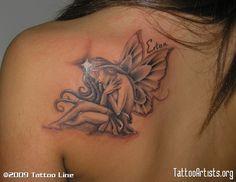 Flower Fairy Tattoos for Women | Fairy Tattoo Designs - Free Download Fairies Tattoos5 Fairy Tattoo ...