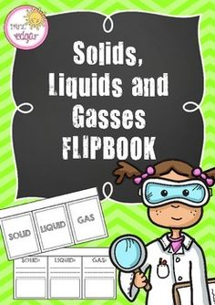 States of MatterA fantastic solids, liquids and gasses flipbook!Students either write a short definition of each state of matter accompanied with pictures (lined template), or draw just pictures (blank template) underneath the cover page. Alternatively, students can glue the front cover into workbooks and go from there!This states of matter flipbook looks great when finished!Key terms:States of matter, solids, liquids, gasses, solid, liquid, gas