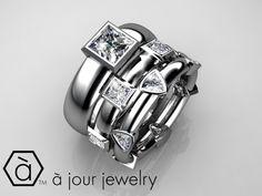 Custom bridal engagement rings by Ajour Jewelry RI Bristol home of the designer platinum engagement ring - Creator of designer jewelry new redesign repairs