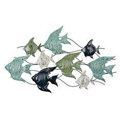 Angel Fish Metal Plaque | Kirklands