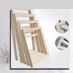 [Visit to Buy] Suit for All kinds of diy oil painting stretcher Convex wood frame wall painting picture frame Photo door Picture D frames