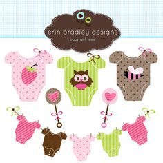 Baby Girl Tees Clipart Clip Art Personal & Commercial Use