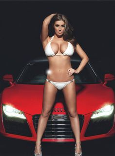 Sexy woman model with car. More sexy women at http://sexy-calendars.net  |  http://car-calendars.net