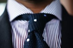 Polka Dot Tie with Stripes