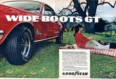 1968 Goodyear Tires WideBoots Advertising Road & Track June 1968