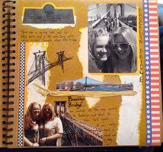My New York scrapbook. Brooklyn Bridge