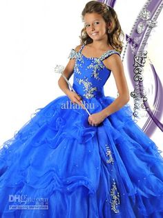 Wholesale 2013 Girl's Pageant Dresses New Ball Gown Beading Pretty Flower Girl Dresses RG 6464, Free shipping, $89.09/Piece | DHgate