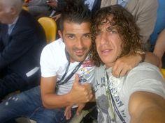 No hay dos sin tres la Eurocopa vuelve a España 2012 David Villa y Puyol
