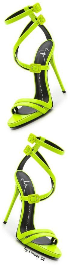 Emmy DE * Giuseppe Zanotti #neon Crisscross Sandals     @ my sexz shoes2