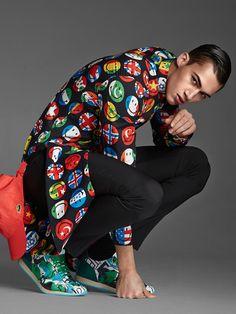 Alessio Pozzi August Man 2015 Fashion Editorial 007 Alessio Pozzi Models Bright Colors + Bold Prints for August Man Editorial