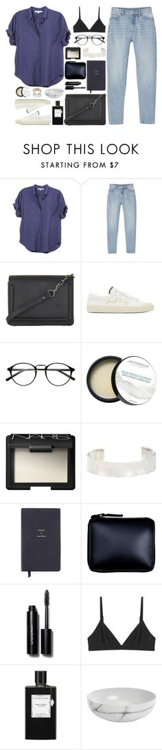 """XirenA"" by breilachristou ❤ liked on Polyvore featuring Xirena, Monki, BCBGMAXAZRIA, Yves Saint Laurent, Japonesque, NARS Cosmetics, Jennifer Fisher, Smythson, Comme des Garçons and Bobbi Brown Cosmetics"