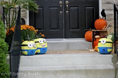 Craftberry Bush: Painted Pumpkins...minions