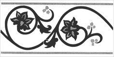 Beautiful Design 007 150 x 75mm / White / Black in the Victorian