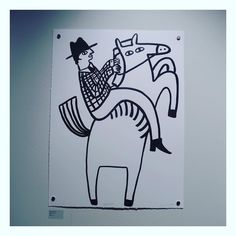 @abowsh89 yesterday at Pick me up.. #pickmeup #somersethouse #yeehawcowboy #illustration by munchie71