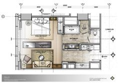 ~ Living a Beautiful Life ~ bed room sketch Small House Plans, House Floor Plans, Hotel Floor Plan, Apartment Layout, Studio Apartment, Hotel Room Design, Apartment Floor Plans, Property Design, Hotel Interiors