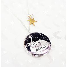 Bonbi Forest All Is Bright Christmas Locket (€29) ❤ liked on Polyvore featuring jewelry, pendants, locket jewelry, christmas jewelry and bright jewelry