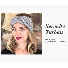 Serenity Turban Pattern/ Knit Pattern/ Knit Turban Pattern | Etsy Beginner Knitting Patterns, Easy Knitting Projects, Knitting For Beginners, Knit Patterns, Simple Knitting, Circular Knitting Needles, Knitting Stitches, Baby Knitting, Marker