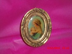 Dolls House Holy Mother Mary an Child Picture by VintageLundbyLove, Madonna And Child, Mother Mary, Holi, Unique Jewelry, Handmade Gifts, Children, Pictures, Etsy, Vintage
