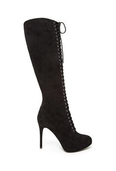 Over-the-Knee Lace-Up Boots   Forever 21 - 2000163360