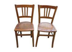 Paires de chaises bistrot sérigraphiées