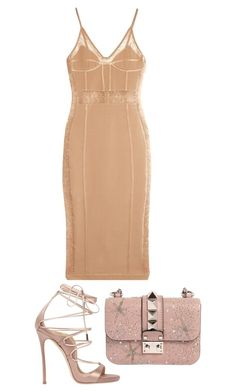 """""""Untitled #1052"""" by gabbyriera ❤ liked on Polyvore featuring Balmain, Valentino and Dsquared2"""