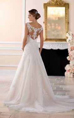 6427 Floral Lace Wedding Dress by Stella York