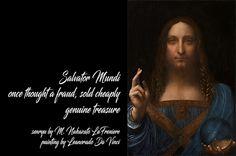 daily senryu by M. Nakazato LaFreniere, Salvator Mundi painting by Leonardo Da Vinci, senryu, haiku, poetry, art, #senryu, #haiku, #poetry, http://cactushaiku.com/daily-haiku-senryu-fraud/