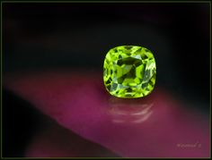Six carat Peridot from Pakistan,- Rich and pleasant color.