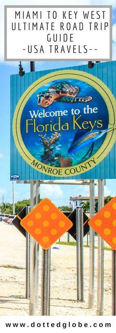 Miami to key west road trip miami to key west drive miami to key we Visit Florida, Florida Travel, New Travel, Travel Usa, Miami Florida, Canada Travel, Family Travel, Usa Travel Guide, Travel Tips