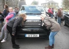 """Fans licking Niall's car outside of the church today. Disrespect has a new low. <-----""""Disrespect is has a new low""""<----- Couldn't have said it better myself. This is just flat out wrong. The people who did this ruined Greg and Denise's special day. I apologize for the people that did this. I am truly sorry that your special day was ruined because of this.>>> but u realize we now how Niall's license plate #. We could track his car down<--we have the license plate!!!!!!!"""