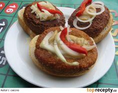 Sýrové smaženky – socialistické in 2020 Czech Recipes, Ethnic Recipes, Bagel, Baked Potato, Hamburger, Sandwiches, Food And Drink, Bread, Czech Food