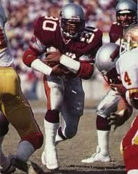 Jacksonville Bulls running back Mike Rozier< Former Nebraska Cornhusker RB and Heismann Trophy winner, he would later join the Houston Oilers, but he would never have the same success there than he did with the Cornhuskers and with the Bulls.