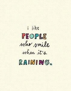 Seemed appropriate for a rainy day like today!!