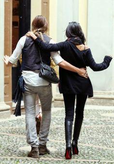 Zoe Saldana and Marco Perego in Milan, Italy