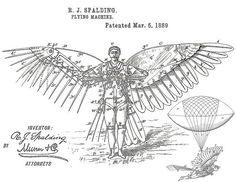 r. j. spalding's   flying machine  1889